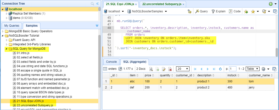 How to Query MongoDB with SQL SELECT | NoSQLBooster for