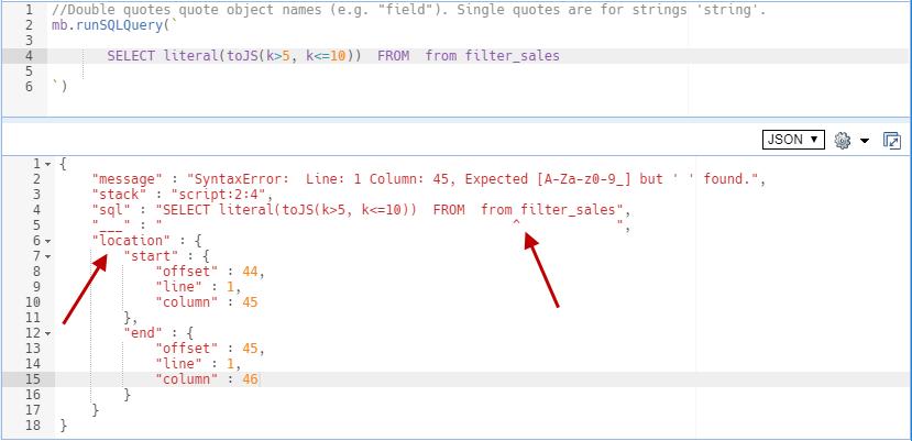 SQL Error Report