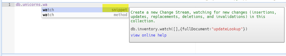 Watch Collection Code Snippet